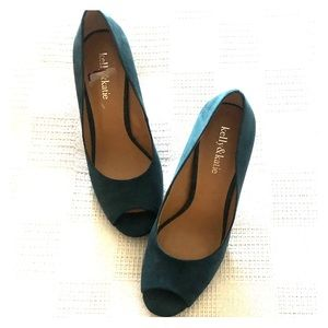 Woman's open toe (Suede) shoes by Kelly & Katie